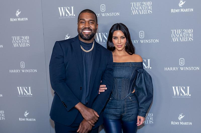 Kanye and Kim West at Innovator Awards show