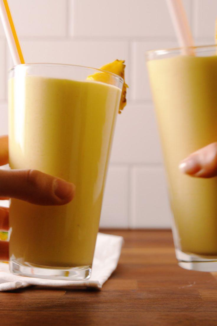 "<p>Get a boost of energy <em>and</em> feel like you're on vacay.</p><p>Get the recipe from <a href=""https://www.delish.com/cooking/recipe-ideas/recipes/a53718/pina-colada-protein-smoothie-recipe/"" rel=""nofollow noopener"" target=""_blank"" data-ylk=""slk:Delish"" class=""link rapid-noclick-resp"">Delish</a>. </p>"