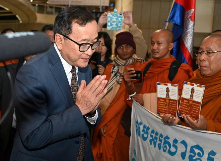 Rainsy had planned to make a dramatic end to his exile to mark Cambodian Independence Day on Saturday