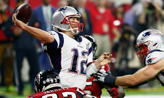 "<span class=""element-image__caption"">The jersey worn by Tom Brady during his historic Super Bowl comeback in February has been recovered.</span> <span class=""element-image__credit"">Photograph: Gregory Shamus/Getty Images</span>"