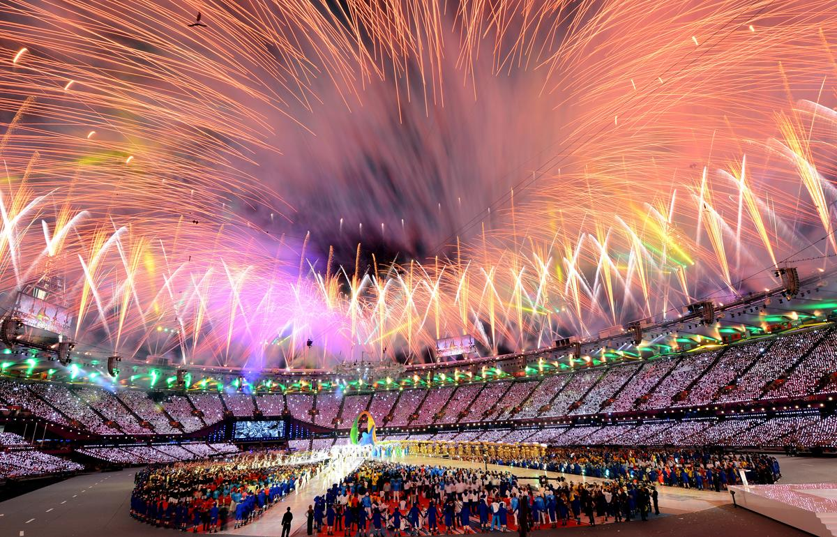 Held in London this year, the Olympics drew millions to its long-favored sports (gymnastics, diving) as well as new ones (women's boxing). Social media also became a part of the event, for better and worse. (Mike Hewitt/Getty Images)