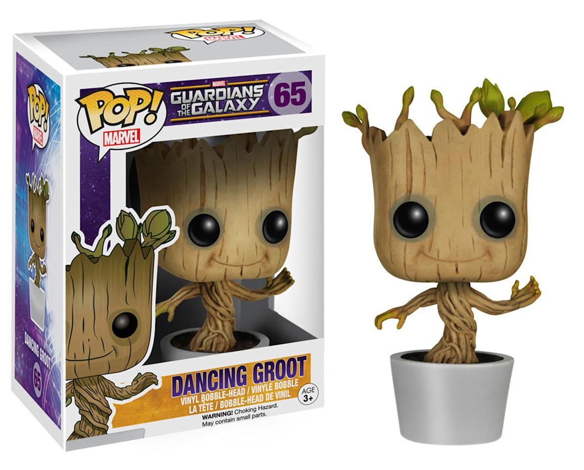 <p>Price: RRP £12.99-£14.99.<br /> Stockist: Available in all good retailers.<br /> Product Description: Here's Groot as you've never seen him before. This fun bobble-head figurine is made from vinyl, with the regrowing Guardian's head mounted on a spring so it wobbles from side to side. </p>