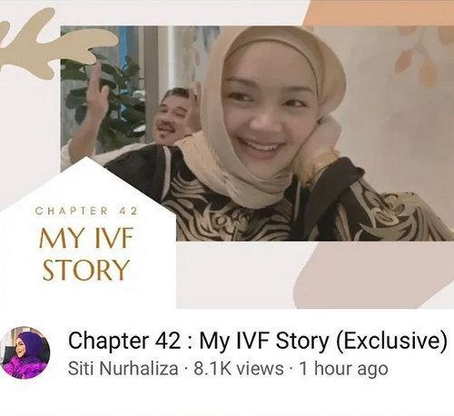 Siti documented her IVF journey on YouTube