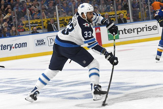 Byfuglien was granted a leave of absence by the Jets earlier this month. (getty)