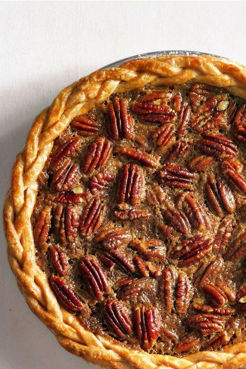 """<p>Nothing says Thanksgiving like a pecan pie.</p><p><strong><a href=""""https://www.countryliving.com/food-drinks/recipes/a5528/old-fashioned-pecan-pie-recipe-clx0914/"""" rel=""""nofollow noopener"""" target=""""_blank"""" data-ylk=""""slk:Get the recipe"""" class=""""link rapid-noclick-resp"""">Get the recipe</a>.</strong></p>"""