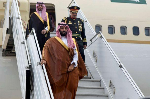 PHOTO: Saudi Arabia's Crown Prince Mohammed bin Salman arrives at Ministro Pistarini in Buenos Aires, Nov. 28, 2018. (Reuters)