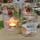 """<p>Muster up your best Gallic accent when making these super-stylish Mason jar candles wrapped in French Christmas sheet music.</p><p><strong>Get the tutorial at <a href=""""https://confessionsofaplateaddict.blogspot.com/2014/11/french-sheet-music-christmas-candles.html"""" rel=""""nofollow noopener"""" target=""""_blank"""" data-ylk=""""slk:Confessions of a Plate"""" class=""""link rapid-noclick-resp"""">Confessions of a Plate</a>.</strong></p><p><a class=""""link rapid-noclick-resp"""" href=""""https://www.amazon.com/Chantez-Noel-Classic-Christmas-Soprano/dp/1528700848?tag=syn-yahoo-20&ascsubtag=%5Bartid%7C10050.g.2132%5Bsrc%7Cyahoo-us"""" rel=""""nofollow noopener"""" target=""""_blank"""" data-ylk=""""slk:SHOP FRENCH CHRISTMAS SHEET MUSIC""""><strong>SHOP FRENCH CHRISTMAS SHEET MUSIC</strong></a><strong><br></strong></p>"""