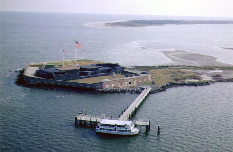 An undated photo provided by the National Parks Service in 2006 shows Fort Sumter in South Carolina.  The looming shutdown of the federal government includes the National Parks Service, which could mean festivities starting this weekend commemorating the attack on Fort Sumter could happen without Fort Sumter.  (AP Photo/NPS/Fort Sumter National Monument)