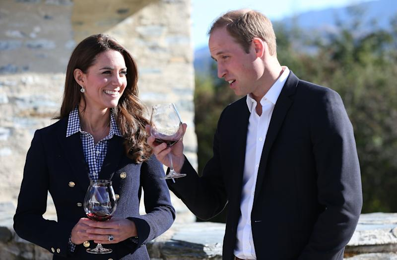 The Duchess wore a chic Zara blazer for a wine tasting event in New Zealand on April 13, 2014.