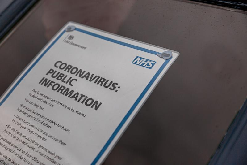 UK Public information poster from the NHS (National Health Service) with advice relating to the COVID-19 Coronavirus (Photo: PoppyPixels via Getty Images)