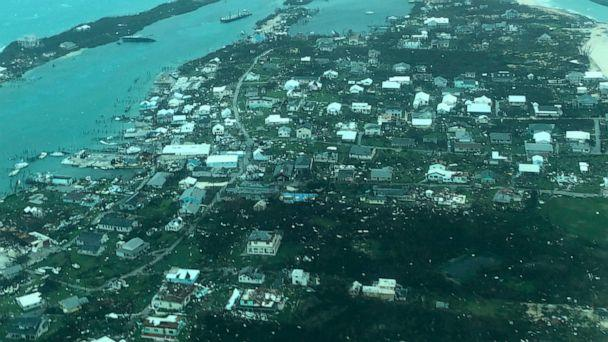 This aerial photo provided by Medic Corps, shows the destruction brought by Hurricane Dorian on Man-o-War Cay, Bahamas, Tuesday, Sept.3, 2019. Relief officials reported scenes of utter ruin in parts of the Bahamas and rushed to deal with an unfolding (The Associated Press)