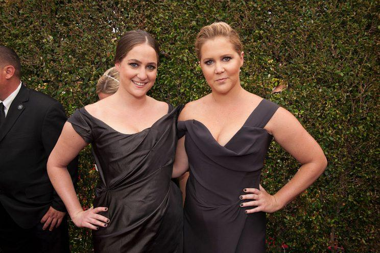 Amy Schumer and her sister Kim Caramele at the Emmys in September.