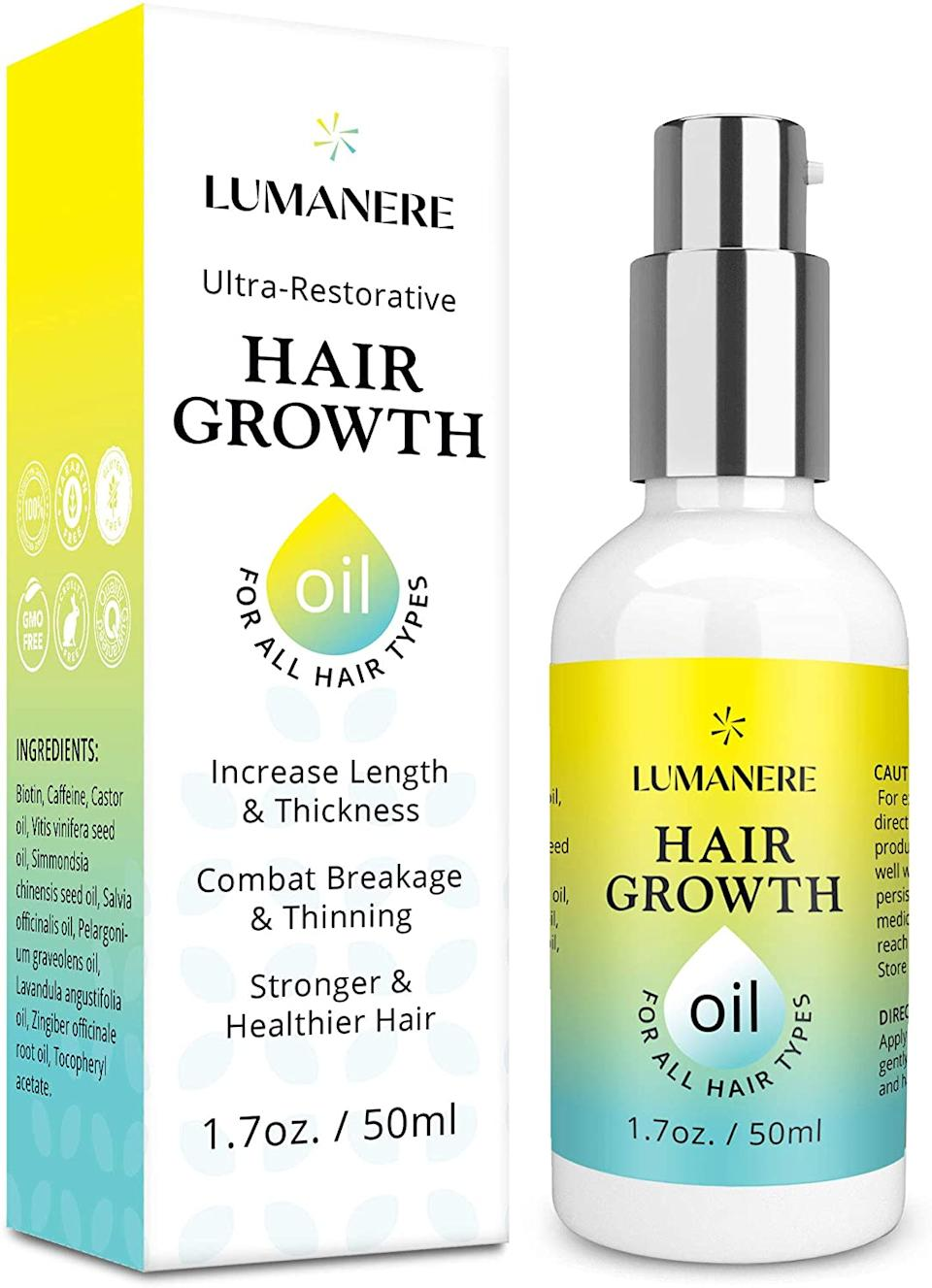 Lumanere Hair Growth Serum. Image via Amazon.
