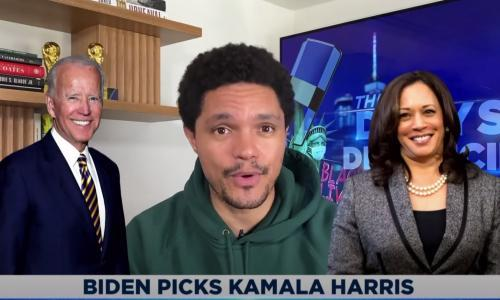 Trevor Noah: Biden picked Harris so she'd 'never dust his ass in public again'