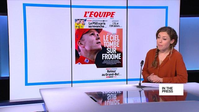 FRENCH PRESS - Thurs. Dec. 14, 2017: French papers wonder about the future of British cyclist Chris Froome after revelations that he failed a drug test. Le Figaro wonders if the four-time winner of the Tour de France will meet the same fate as former champion Lance Armstrong. Also, as EU leaders gather in Brussels, papers report that an increasing number of EU citizens are being kicked out of the UK. Plus, Paris vows to ban wild circus animals after the death of a tiger several weeks ago.