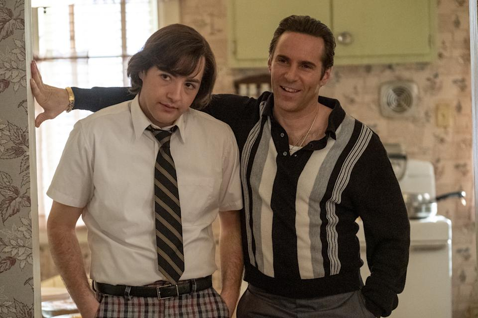 """(L-r) MICHAEL GANDOLFINI as Teenage Tony Soprano and ALESSANDRO NIVOLA as Dickie Moltisanti in New Line Cinema and Home Box Office's mob drama """"THE MANY SAINTS OF NEWARK,"""" a Warner Bros. Pictures release."""