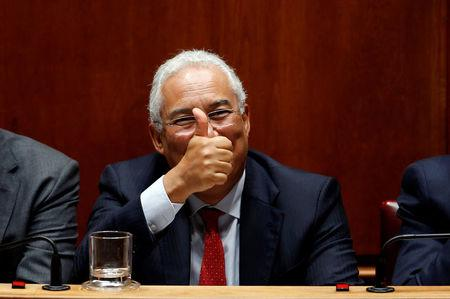FILE PHOTO: Portugal's Prime Minister Antonio Costa gestures during a debate on the 2017 state budget at the parliament in Lisbon