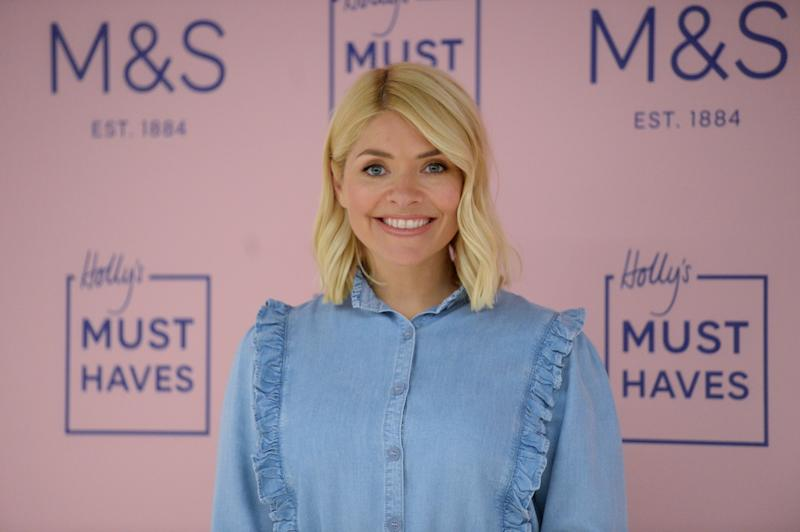 Holly Willoughby at the launch of her Marks & Spencer Must-Haves, The Denim Edit at the Marks & Spencer at Westfield, White City, London. (Photo by Kirsty O'Connor/PA Images via Getty Images)