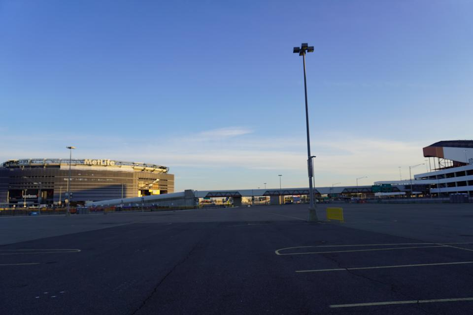 Just a stone's throw from MetLife Stadium, American Dream shares a parking lot with the sports and entertainment complex. (Photo: Stephanie Asymkos/Yahoo Finance)