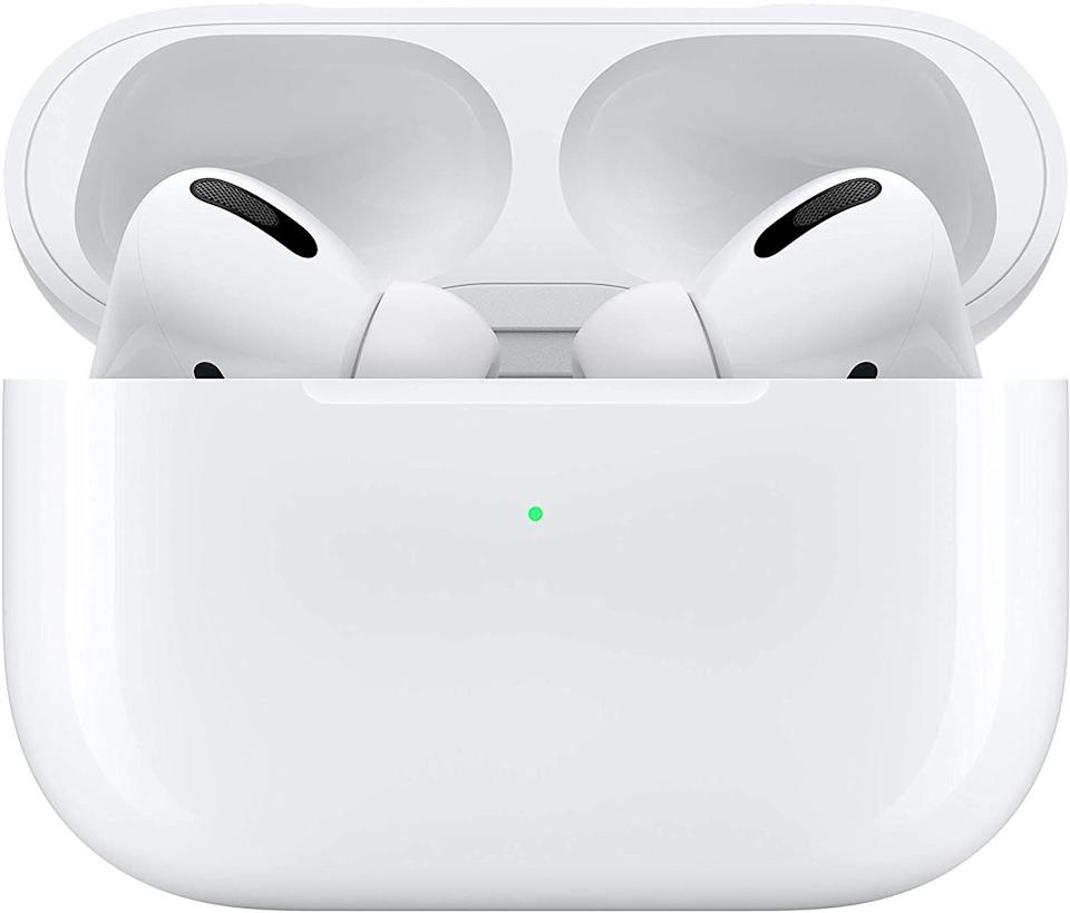 "The ""shopping holiday"" had a few deep discounts from Apple, including on <a href=""https://www.huffpost.com/entry/prime-day-2020-apple-deals-airpods-macbook-apple-watch-iphone-ipad_l_5f75feb1c5b6c35a64194b95"" target=""_blank"" rel=""noopener noreferrer"">MacBooks and iPads</a>. The best deal we saw though was on the latest Apple AirPods Pro, which have a noise-canceling mode. It's the <a href=""https://www.huffpost.com/entry/prime-day-2020-airpods-deals_l_5f4d1233c5b6cf66b2bb2586"" target=""_blank"" rel=""noopener noreferrer"">cheapest</a> we've seen them go for so far. But they have increased in price slightly now. <a href=""https://amzn.to/2Tl8qnX"" target=""_blank"" rel=""noopener noreferrer"">Find them on sale for $219 at Amazon</a>."