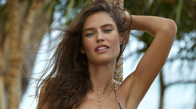 Bianca Balti was photographed by James Macari in Sumba Island. Swimsuit by Beauty & the Beach.