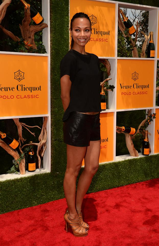 JERSEY CITY, NJ - JUNE 02:  Actress Zoe Saldana attends the fifth annual Veuve Clicquot Polo Classic on June 2, 2012 in Jersey City.  (Photo by Andrew H. Walker/Getty Images for Veuve Clicquot Polo Classic)
