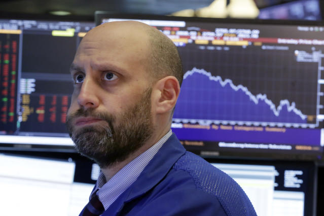 Stock futures were selling off Wednesday morning after a better-than-expected inflation report. (AP Photo/Richard Drew)