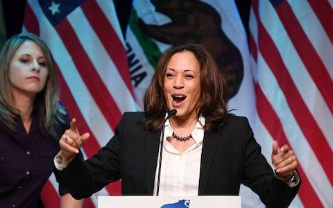 Kamala Harris chose MLK day to announce her bid for the presidency - Credit: AFP