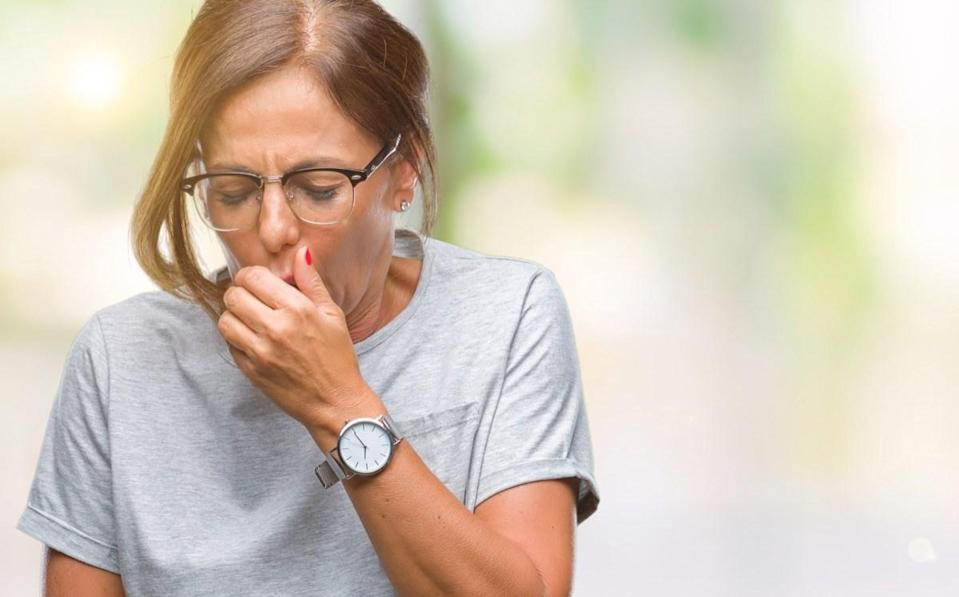 A cough that persists after the flu or bronchitis is normal. But a cough that doesn't go away can indicate asthma, lung disease, or even cancer, says Brayer. A dry cough can also be an indicator of the coronavirus.