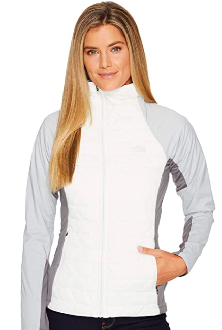 "<h2>The North Face Women's Thermoball Active Jacket</h2><br>""In the summer and fall, I tend to mix it up when it comes to <a href=""https://www.refinery29.com/en-us/best-running-gear-clothes-summer"" rel=""nofollow noopener"" target=""_blank"" data-ylk=""slk:my running gear"" class=""link rapid-noclick-resp"">my running gear</a> — I'll wear any old T-shirt or base layer. But the more the temperatures start to drop, the pickier I become. In fact, I'll only wear running jackets from The North Face, as I've found they're the warmest and the best bet in inclement conditions. I consistently toggle between two <a href=""https://www.refinery29.com/en-us/raincoats-that-work"" rel=""nofollow noopener"" target=""_blank"" data-ylk=""slk:weather-proof picks"" class=""link rapid-noclick-resp"">weather-proof picks</a> from the brand, one of which I've had for six years. It's so reliable and I'm so loyal to it that when the zipper started sticking last year, I went out of my way to find a tailor who could fix it. Then there's the Thermoball jacket, which is super insulated, with a ""warmth equivalent to 600 fill goose down,"" according to the brand. Plus, it's cute AF."" — <em>Molly Longman, health and wellness writer</em><br><br><br><strong>The North Face</strong> The North Face Women's Thermoball Active Jacket, $, available at <a href=""https://www.amazon.com/North-Face-Womens-Thermoball-Active/dp/B01NAF64FC"" rel=""nofollow noopener"" target=""_blank"" data-ylk=""slk:Amazon"" class=""link rapid-noclick-resp"">Amazon</a>"