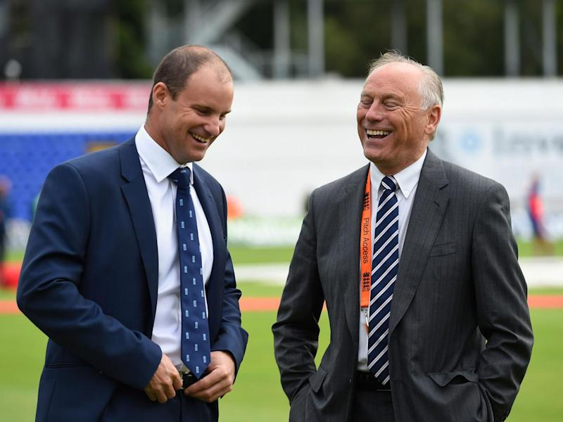 ECB chairman Colin Graves with Andrew Strauss, director of England cricket (Getty)