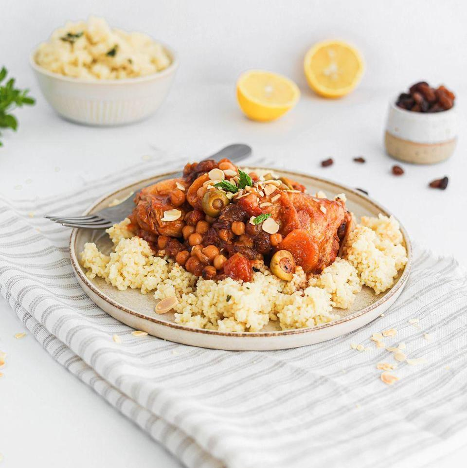 """<p>This <a href=""""https://www.delish.com/uk/cooking/recipes/g34232809/leftover-chicken-recipes/"""" rel=""""nofollow noopener"""" target=""""_blank"""" data-ylk=""""slk:chicken"""" class=""""link rapid-noclick-resp"""">chicken</a> tagine recipe is super tasty and is perfect for a <a href=""""https://www.delish.com/uk/cooking/recipes/g33964583/midweek-meals/"""" rel=""""nofollow noopener"""" target=""""_blank"""" data-ylk=""""slk:midweek meal"""" class=""""link rapid-noclick-resp"""">midweek meal</a>, OR your next <a href=""""https://www.delish.com/uk/cooking/recipes/g37141491/dinner-party-starters/"""" rel=""""nofollow noopener"""" target=""""_blank"""" data-ylk=""""slk:dinner party"""" class=""""link rapid-noclick-resp"""">dinner party</a>. </p><p>Get the <a href=""""https://www.delish.com/uk/cooking/recipes/a37805011/chicken-tagine/"""" rel=""""nofollow noopener"""" target=""""_blank"""" data-ylk=""""slk:Chicken Tagine"""" class=""""link rapid-noclick-resp"""">Chicken Tagine</a> recipe.</p>"""