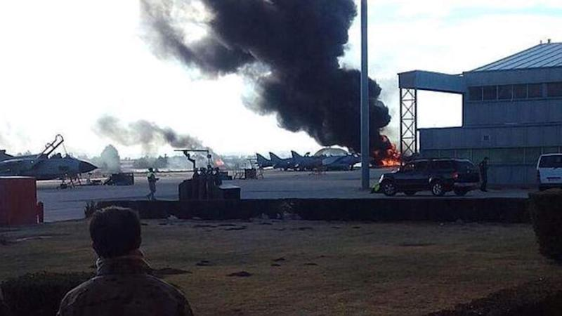Ten Dead As F-16 Jet Crashes Into Planes