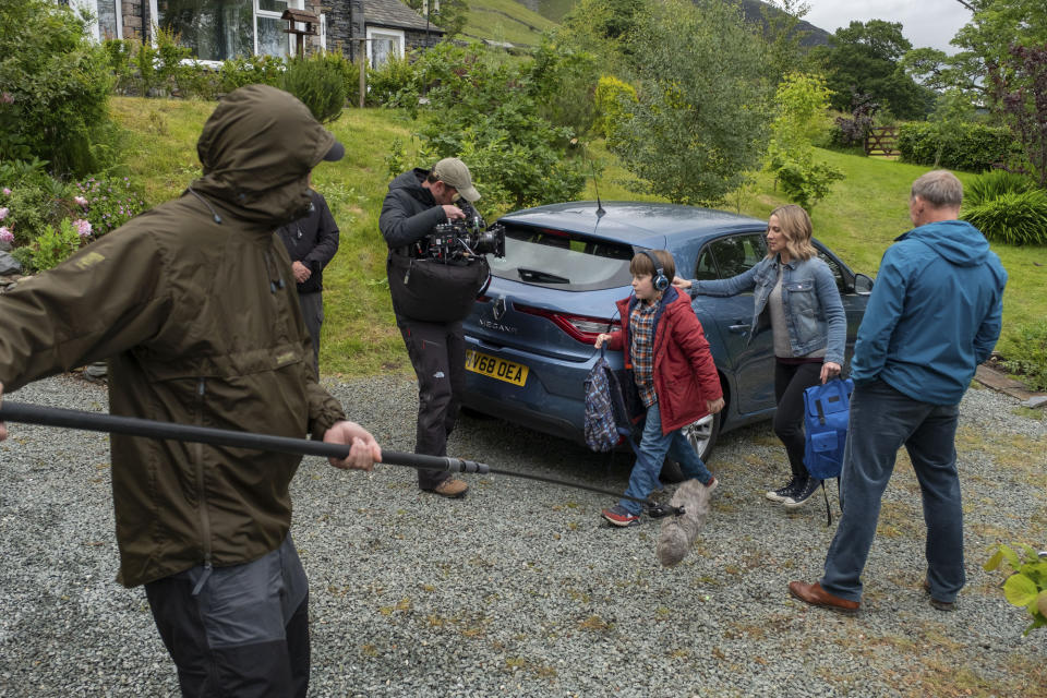 BEHIND THE SCENES Production Crew, Joe Hughes (MAX VENTO), Alison Hughes (MORVEN CHRISTIE), Maurice Scott (CHRISTOPHER ECCLESTON) - (Fifty Fathoms - Photographer: Matt Squire)