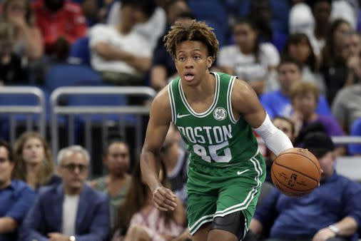 Romeo Langford hurts ankle in Red Claws game