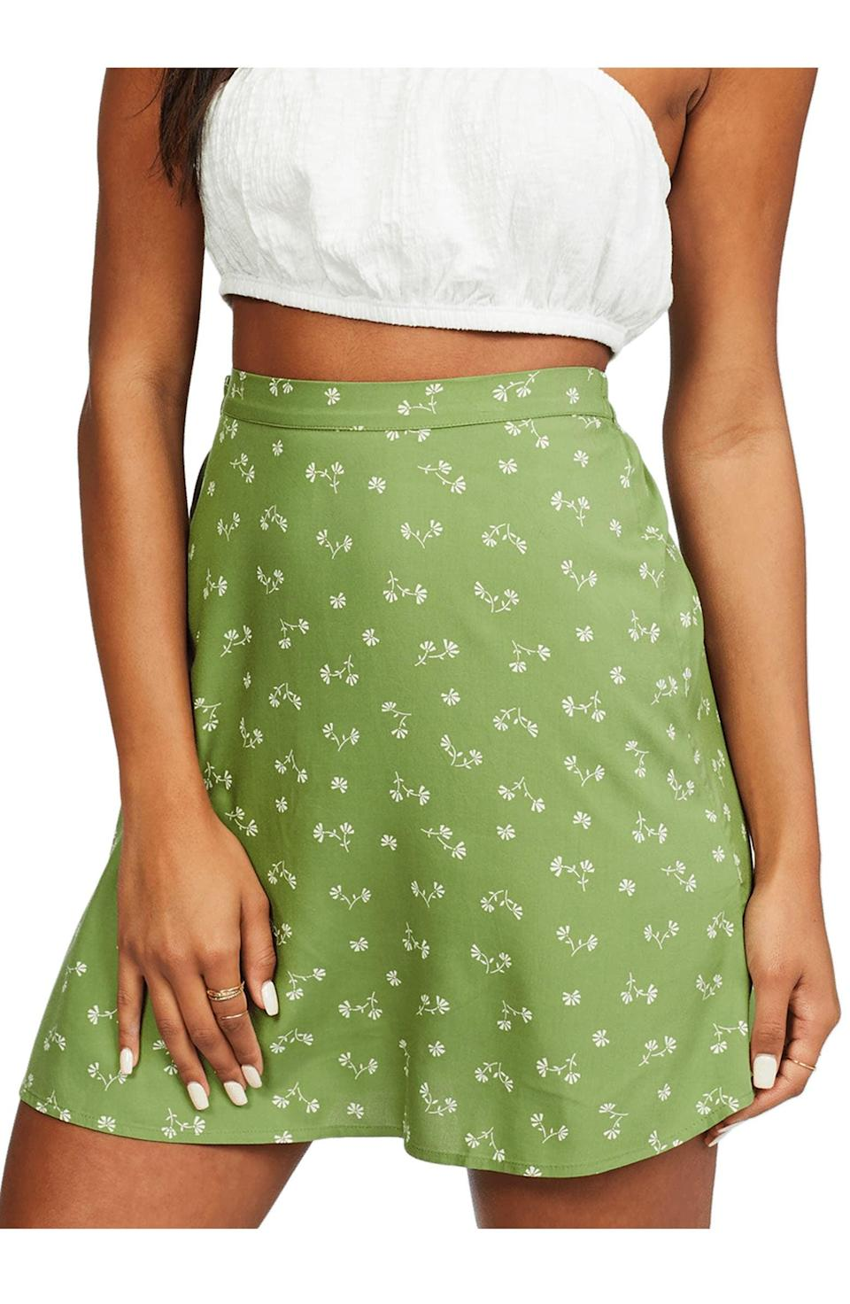 <p>This <span>Billabong Crossroads Floral Skirt</span> ($50) will look great with a halter top, but it'll honestly work with all your tops.</p>