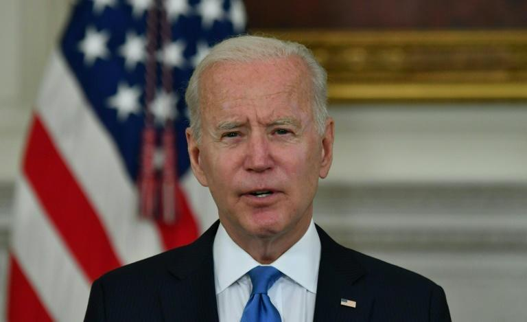 """US President Joe Biden said a """"mini-revolution"""" was upending the Republican Party as it grapples with wether or not to embrace former president Donald Trump or forge a new path"""