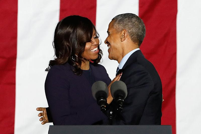 Former first couple Barack and Michelle Obama celebrated their 28th wedding anniversary on Oct. 3, 2020. (Photo: Getty Images)