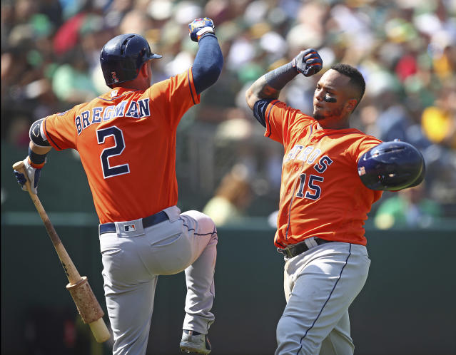 The Astros have the utter privilege of finishing their season with four games in Baltimore. (AP)