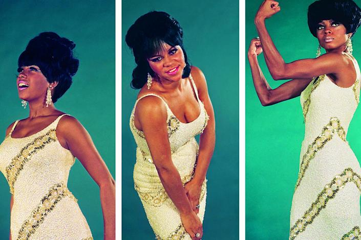 From one of the last photoshoots before original member Florence Ballard (right) left the group in 1967: Mary Wilson Collection