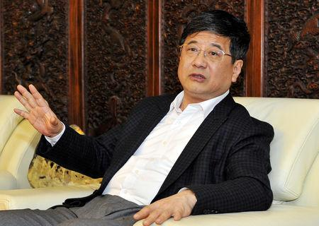 Zheng Xiaosong, secretary of the Fujian Provincial Committee of the Communist Party of China (CPC), speaks during a meeting in Fuzhou, Fujian