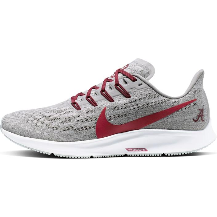 Men's Nike Gray/Crimson Alabama Crimson Tide Air Zoom Pegasus 36 Sneakers
