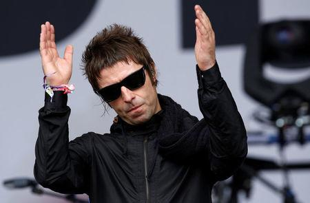 FILE PHOTO: Liam Gallagher performs with his band Beady Eye during the Glastonbury music festival at Worthy Farm in Somerset, June 28, 2013. REUTERS/Olivia Harris/File Photo