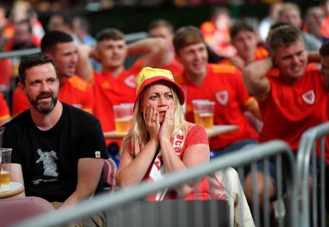 Most Wales fans had to make do with watching from home
