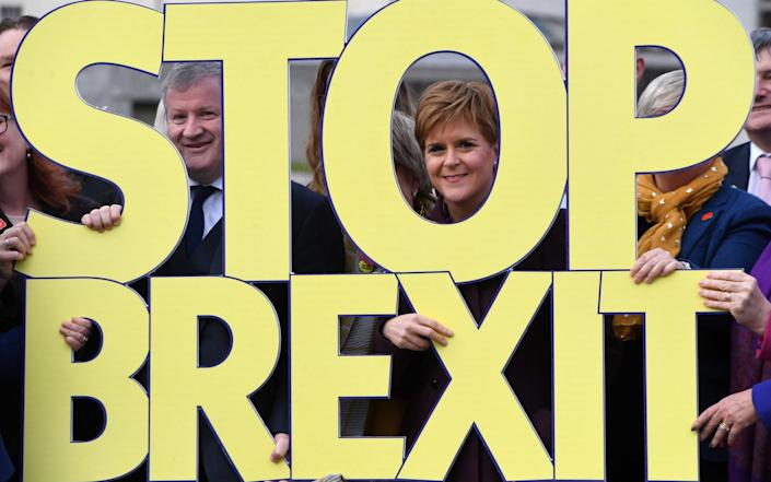 Nicola Sturgeon wanted to revoke Brexit altogether at the 2019 general election campaign. - Andy Buchanan/AFP