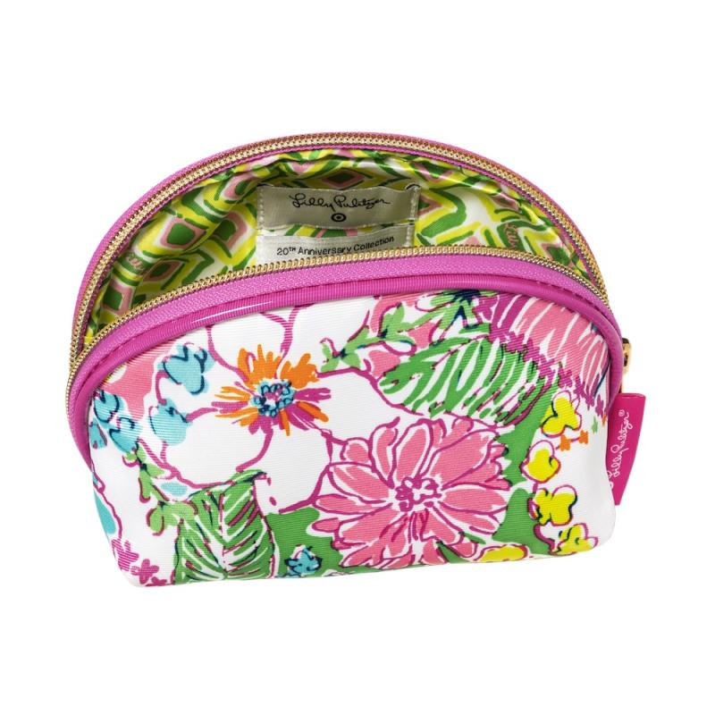 Lilly Pulitzer for Target Double Zip Cosmetic Train Case in Fan Dance Print, $22 | Courtesy Target