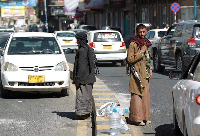 Shiite Huthi militants swept into Sanaa from their northern stronghold in September 2014 (AFP Photo/Mohammed Huwais)