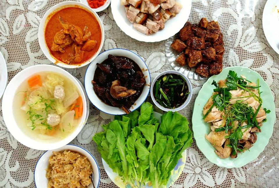 Meals that Yeoh and his family will be cooking tomorrow include the Curry Kapitan, Jiu Hu Char and Hong Bak. — Picture courtesy of Peter Yeoh