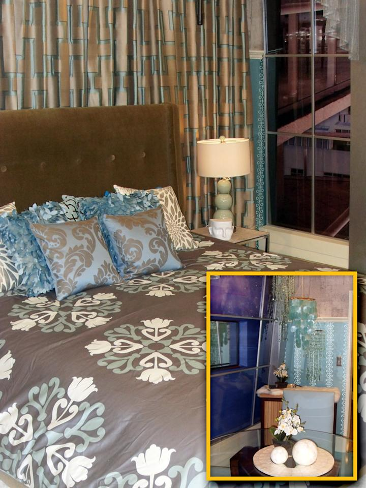 Season 12's Head of Household (HoH) bedroom comes furnished with luxurious linens and home decor courtesy of CB2 and West Elm, among other retailers.