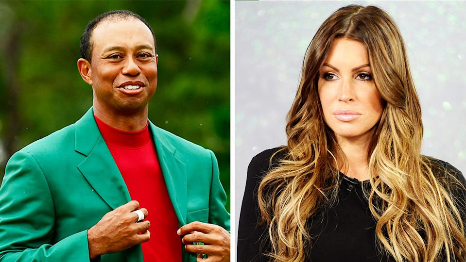 Tiger Woods (pictured left) and the woman reportedly at the centre of Woods' infamous 2009 scandal, Rachel Uchitel (pictured right). (Getty Images)